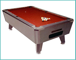 Pool Table Red